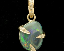 Semi-Black Solid  Opal Pendant 5ct (LP116)