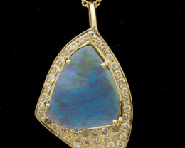 Black Solid Opal Pendant 2.3ct (LP118)