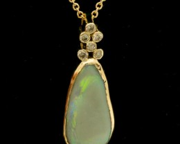 Grey Solid Opal Pendant 3.14ct (LP120)