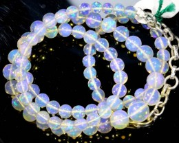 52.95CTS ROUND OPAL BEAD STRAND FOB-1077