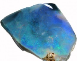 30.50 CTS BLACK  OPAL ROUGH -CLEAN PRE-RUBBED [BR5491] SAFE