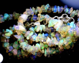 55.05CTS CHIPS OPAL BEADS STRANDS FOB-1094-fireopalbeads
