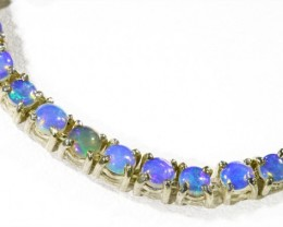 Fire Opal Solid Bracelet , top design sterling silver CF1304