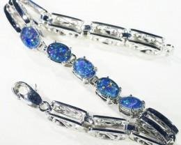 Fire Opal triplet  Bracelet , top design sterling silver CF1306