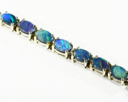 Fire Opal Doublet  Bracelet , top design sterling silver CF1307