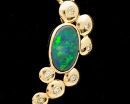 Black Solid Opal Pendant 1.8ct (LP121)