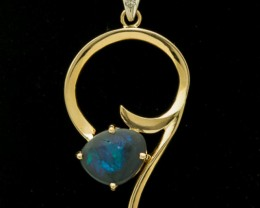 Black Solid Opal Pendant 1.34ct (LP133)