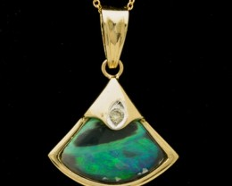 Semi-Black Solid Opal Pendant 3.3ct (LP149)