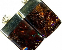 36.75 CTS BOULDER OPAL EARRINGS WITH HOOK [SOJ5800]