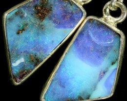 12.15 CTS BOULDER OPAL EARRINGS WITH HOOK [SOJ5814]7