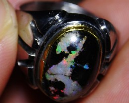 37.40 Ct Polished Indonesian Wood Fossil Opal With Unique Ring