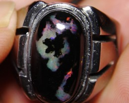 47.75 Ct Polished Indonesian Wood Fossil Opal With Unique Ring