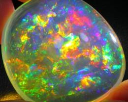 55.29Ct Rainbow ContraLuz Ethiopian Welo Specimen Crystal Opal