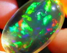 33.84Ct Rainbow+++ Crystal Flash Ethiopian Welo Specimen Crystal Opal