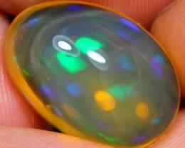 9.52Ct Bluish Green Flash Ethiopian Welo Specimen Crystal Opal