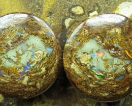 "66cts.""BOULDER MATRIX OPAL~GEM PAIR"""