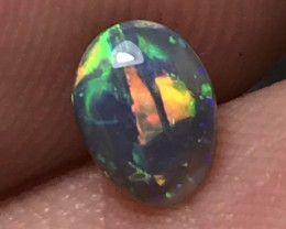 0.66ct Lightning Ridge Gem Black Opal LR319