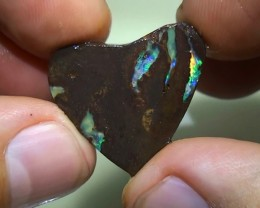 16.85 ct Boulder Opal Rough Rub With Blue Green Color