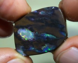 24.20 ct Boulder Opal Rough Rub With Rainbow Color