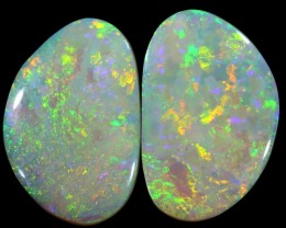 11.25 CTS  PAIR COOBER PEDY OPAL [BO371]