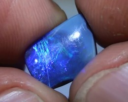 4.05 ct Boulder Opal With Natural Blue Color