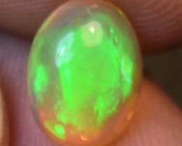 1.50 Cts Ethiopian Welo Fire Opal Cabochon Natural No Reserve