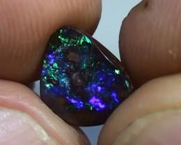 1.35 ct Boulder Opal Natural Gem Blue Green Color