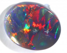 N4-  1.02CTS QUALITY SEMI DARK SOLID OPAL LIGHTNINGRIDGE INV-781