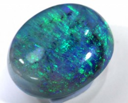 N5-  6.31CTS QUALITY SEMI DARK SOLID OPAL LIGHTNINGRIDGE INV-782