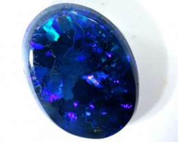 N3-  4.75CTS QUALITY BLACK SOLID OPAL LIGHTNINGRIDGE INV-783
