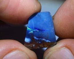 6.95 ct Boulder Opal Natural Blue Green Color