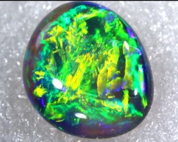N4  6.73 CTS QUALITY BLACK SOLID OPAL LIGHTNINGRIDGE INV-805 GC