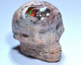 15ct Skull Mexican Fiery Matrix Fire Opal