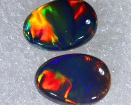 N1  5.51 CTS QUALITY BLACK SOLID OPAL(pair)  LIGHTNINGRIDGE INV-813 GC