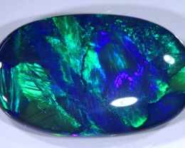 N1   22.46CTS QUALITY BLACK SOLID OPAL LIGHTNINGRIDGE INV-819 GC