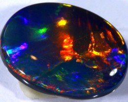 N2  3.51 CTS QUALITY BLACK SOLID OPAL LIGHTNINGRIDGE INV-820 GC