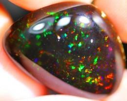 15.61Ct Neon Untreated Dark Brown Ethiopian Welo Specimen Crystal Opal