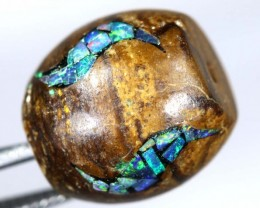 15 CT BOULDER OPAL BEADS INLAY LO-4308