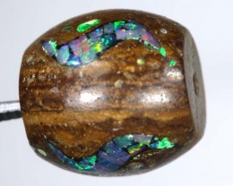 14.1 CT BOULDER OPAL DRILLED  INLAY BEAD LO-4321