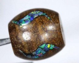 15CT BOULDER OPAL DRILLED  INLAY BEAD LO-4324