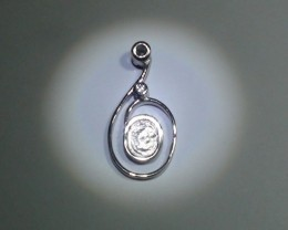 2.87 Grams Full polished 925 Silver Pendant Setting