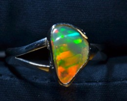 Sz7 Quality Welo Opal Handmade Sterling Silver Ring