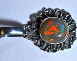 Gorgeous Fiery Welo Opal .925 Sterling Silver Pendant