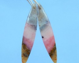 24ct Natural Pink Opal Earrings
