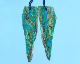 21ct Peruvian Opal Nugget Earrings