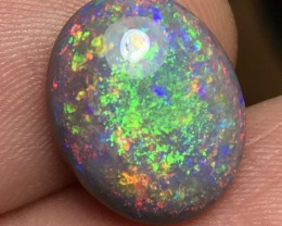 7.96ct Lightning Ridge Gem Semi Black Opal LR335