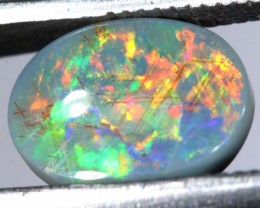 N3 - 1.94CTS SOLID BLACK OPAL STONE  TBO-7405