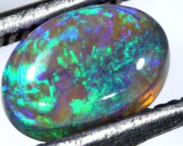 N4- 1.15CTS SOLID BLACK OPAL STONE  TBO-7412