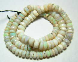 90 CTS OPAL BEADS FACETED FIERY WHITE OPAL FOB-1096