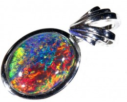 9.9CTS SILVER TRIPLET OPAL PENDANT OF-2041